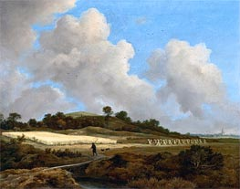View of Grainfields with a Distant Town, c.1670 by Ruisdael | Painting Reproduction