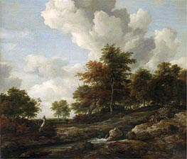 Wooded Landscape with a Rocky Stream | Ruisdael | Gemälde Reproduktion