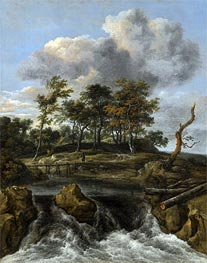 A River Landscape with a Waterfall | Ruisdael | Gemälde Reproduktion
