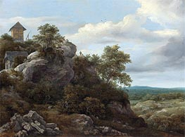 Landscape with Houses on a Rocky Hill | Ruisdael | veraltet