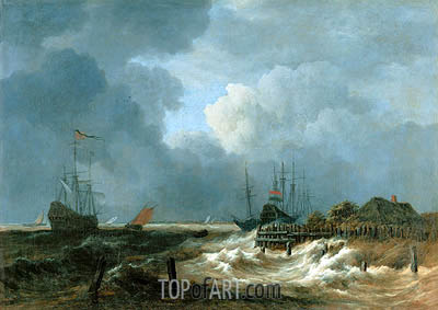 The Storm, undated | Ruisdael | Painting Reproduction