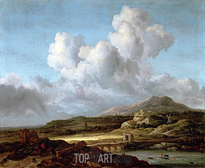 The Sunbeam, undated | Ruisdael| Gemälde Reproduktion