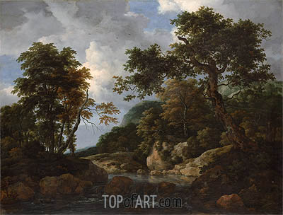 The Forest Stream, c.1660 | Ruisdael| Painting Reproduction
