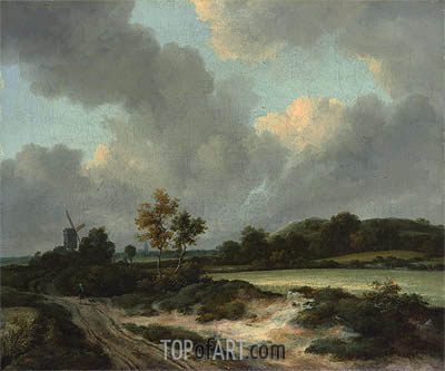 Grainfields, c.1665/70 | Ruisdael| Painting Reproduction