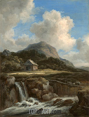 Ruisdael | Mountain Torrent, c.1670/80