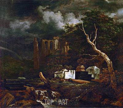 The Jewish Cemetery near Oudekerk, c.1653/55 | Ruisdael| Painting Reproduction
