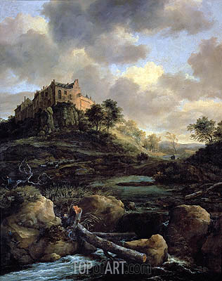 Bentheim Castle, 1653 | Ruisdael| Painting Reproduction