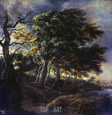 Landscape, 1650 | Ruisdael | Painting Reproduction