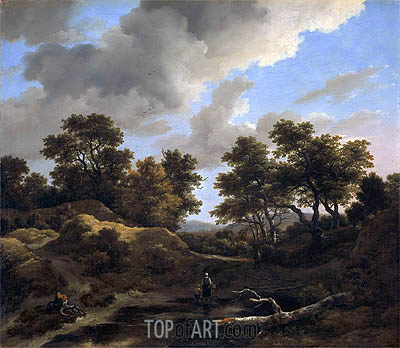 Hills and Woods, c.1660/70 | Ruisdael | Gemälde Reproduktion