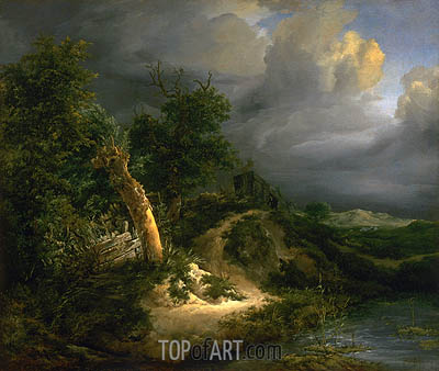 Storm on the Dunes, undated | Ruisdael| Gemälde Reproduktion