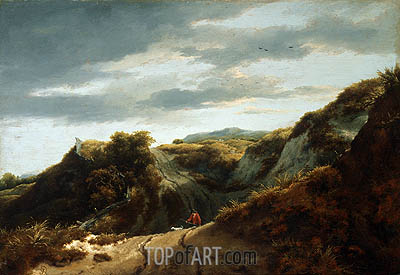Dunes, c.1650/55 | Ruisdael | Painting Reproduction