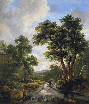 Sunrise in a Wood, c.1670 | Ruisdael | Painting Reproduction