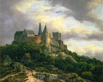 The Castle of Bentheim, c.1650/60 | Ruisdael | Gemälde Reproduktion