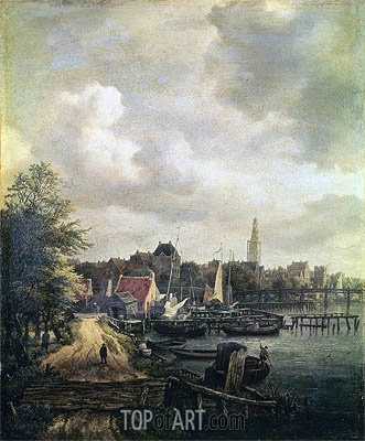View of Amsterdam, undated | Ruisdael| Painting Reproduction