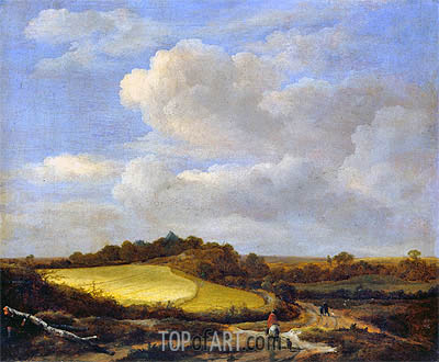 The Wheatfield, undated | Ruisdael | Painting Reproduction