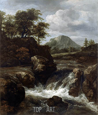 A Waterfall, c.1660/70 | Ruisdael | Painting Reproduction