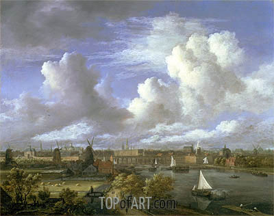 View on the Amstel Looking Towards Amsterdam, c.1675/70 | Ruisdael | Gemälde Reproduktion