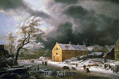 Winter Landscape, c.1670 | Ruisdael| Painting Reproduction