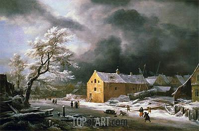 Winter Landscape, c.1670 | Ruisdael | Gemälde Reproduktion
