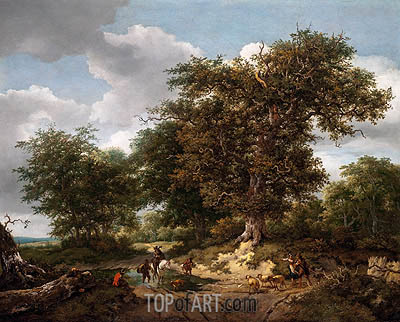 The Great Oak, 1652 | Ruisdael| Gemälde Reproduktion
