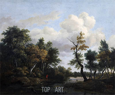A Wood Scene, 1649 | Ruisdael | Gemälde Reproduktion