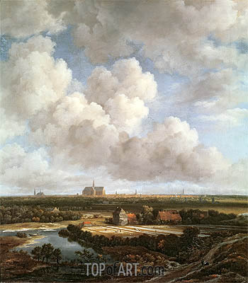 Bleaching Ground in the Countryside near Haarlem, 1670 | Ruisdael| Painting Reproduction