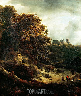 Castle at Bentheim, 1651 | Ruisdael| Gemälde Reproduktion