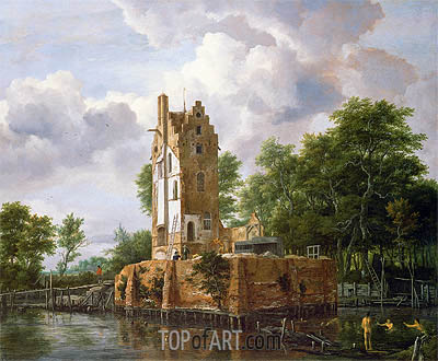 View of Kostverloren Castle on the Amstel, undated | Ruisdael| Gemälde Reproduktion