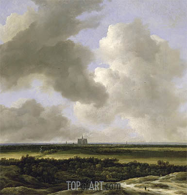 Panoramic View of Haarlem, c.1670 | Ruisdael| Painting Reproduction