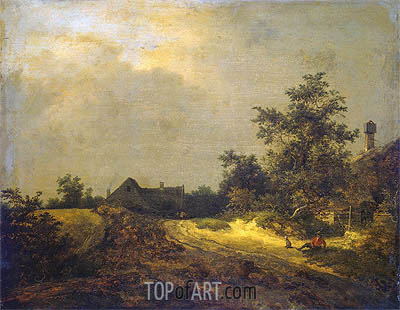 Peasant Cottages in Dunes, 1647 | Ruisdael | Gemälde Reproduktion
