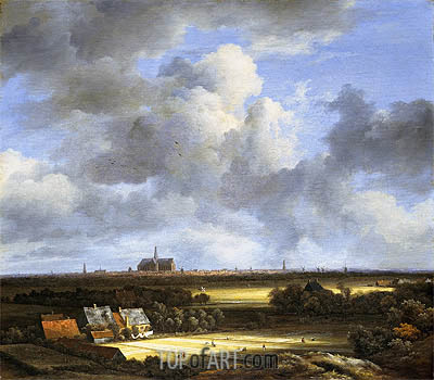 View of Haarlem with Bleaching Grounds, c.1670/75 | Ruisdael | Gemälde Reproduktion