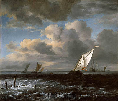 Rough Sea, c.1670 | Ruisdael | Painting Reproduction