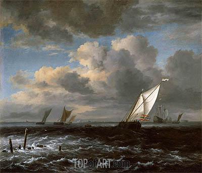 Ruisdael | Rough Sea, c.1670