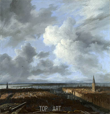 A Panoramic View of Amsterdam looking towards the IJ, c.1665/70 | Ruisdael| Painting Reproduction