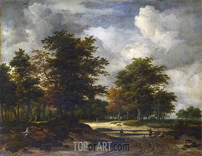 Ruisdael | A Road Leading into a Wood, c.1665/60