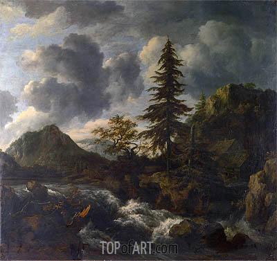 A Torrent in a Mountainous Landscape, c.1665/70 | Ruisdael | Gemälde Reproduktion