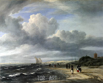 The Shore at Egmond-aan-Zee, c.1675 | Ruisdael | Gemälde Reproduktion
