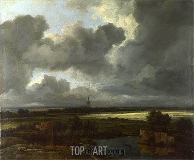 An Extensive Landscape with Ruins, c.1665/75 | Ruisdael | Painting Reproduction