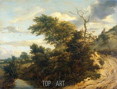 Dirt Road in the Dunes, 1655 | Ruisdael| Painting Reproduction