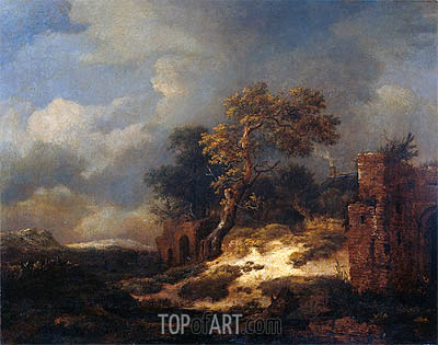 Landscape with Ruins, 1682 | Ruisdael| Painting Reproduction