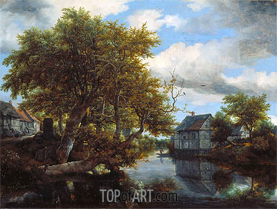 The Great Pool, 1652 | Ruisdael| Painting Reproduction