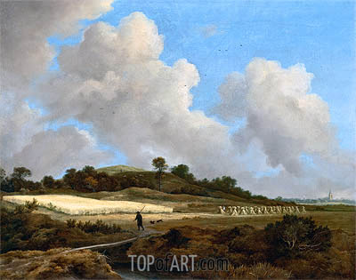View of Grainfields with a Distant Town, c.1670 | Ruisdael | Painting Reproduction