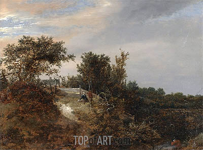 Ruisdael | A Landscape with a Stream, 1647