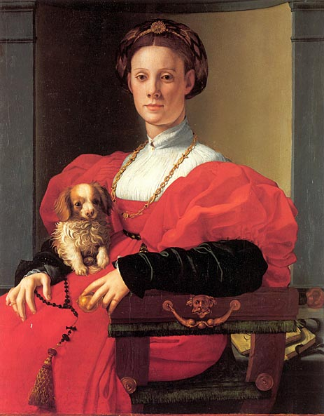 Portrait of a Lady in Red Dress, c.1532/33 | Pontormo | Gemälde Reproduktion