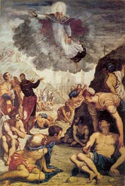 The Miracle of St. Augustine, c.1549 by Tintoretto | Painting Reproduction