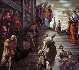 The Presentation of the Virgin, c.1553/56 von Tintoretto | Gemälde-Reproduktion