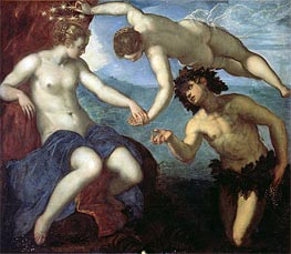 The Discovery of Ariadne, 1578 by Tintoretto | Painting Reproduction