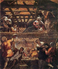 The Adoration of the Shepherds, c.1577/81 von Tintoretto | Gemälde-Reproduktion
