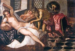 Mars and Venus Surprised by Vulcan, c.1555 von Tintoretto | Gemälde-Reproduktion