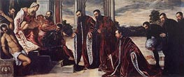 Madonna of the Treasurers, c.1567 by Tintoretto | Painting Reproduction